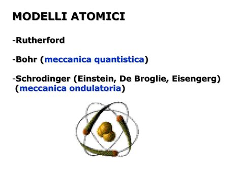 dispense di chimica modelli atomici dispense