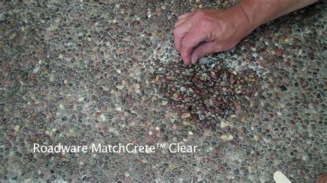 Roadware MatchCrete? Clear Exposed Aggregate Concrete