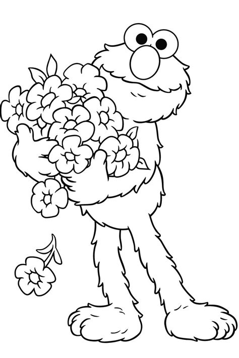 free printable elmo coloring pages for