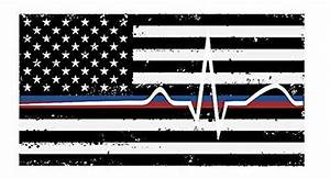 amazoncom back the red blue stacked decal thin blue With kitchen colors with white cabinets with police blue line sticker