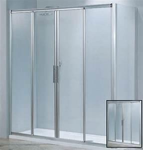 porte de douche luna 2a 4 panneaux verre 4 mm With pose porte douche verre