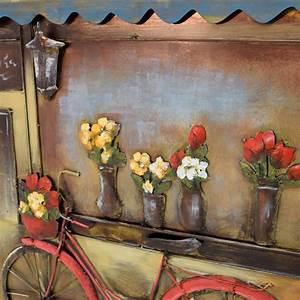 Wandbild Metall 3d : 3d metallbild fahrrad wandbild 80 x 120 cm metall bild cafe laden wandrelief neu ebay ~ Watch28wear.com Haus und Dekorationen