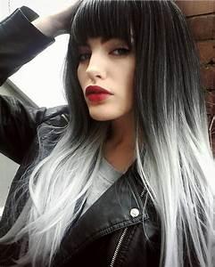 Haarfarbe Schwarz Grau : unsere trending schwarz grau ombre balayage schatten f gt einfach in das schwarze haar was ~ Frokenaadalensverden.com Haus und Dekorationen