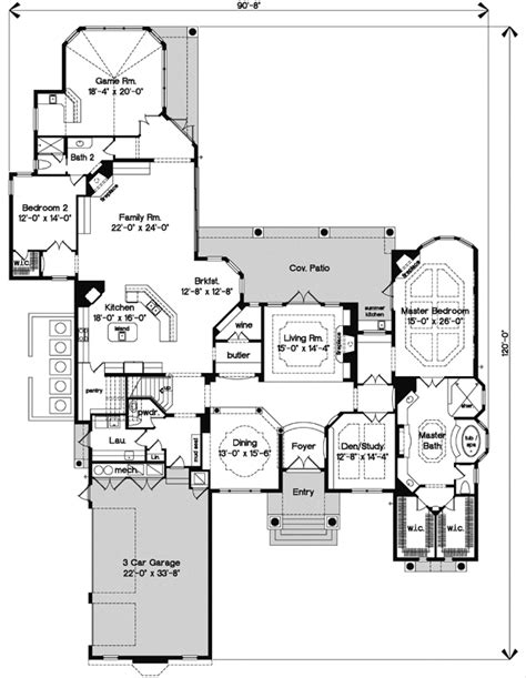 florida house plan bedrooms bath sq ft plan