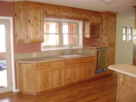 knotty wood kitchen cabinets furniture rustic holic accent kitchen with knotty wood 6677