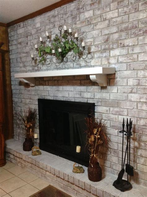 whitewash brick fireplace how to whitewash brick fireplace fireplace designs