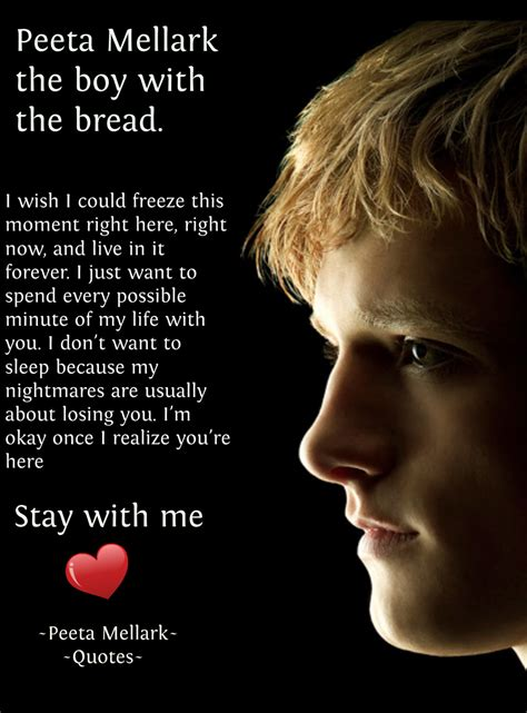 peeta  katniss love quotes quotesgram
