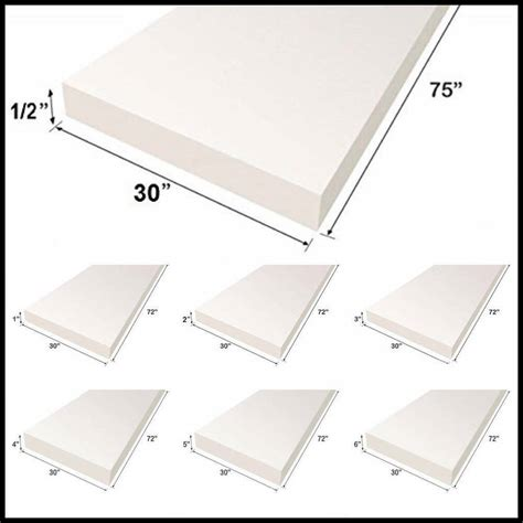 Upholstery Cushions by Upholstery Foam Cushion Sheet 30 Quot X75 Quot Medium Density