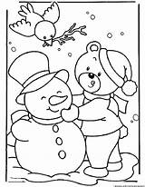 Snow Coloring Pages Weather Print 123coloringpages sketch template