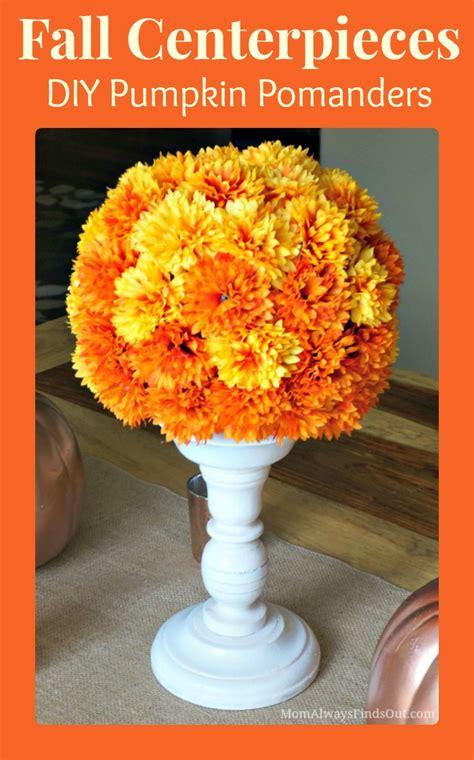 how to make a fall centerpiece craft pumpkin pomanders make lovely fall centerpieces