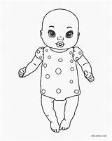 Coloring Dolls Printable sketch template