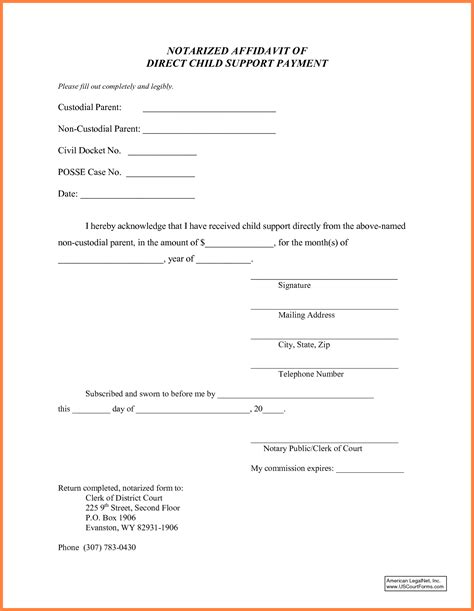 child support letter  agreement template purchase