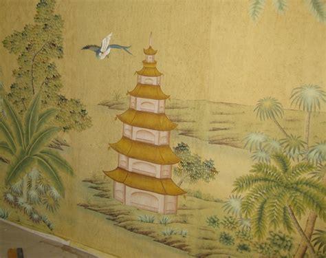 European Curtain by Hand Painted Wallpaper Chinoiserie Wallpaper Silk