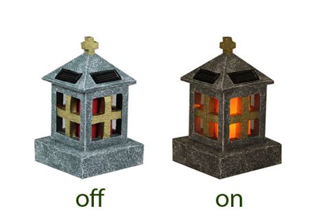 graveside memorial solar light lantern design outdoor