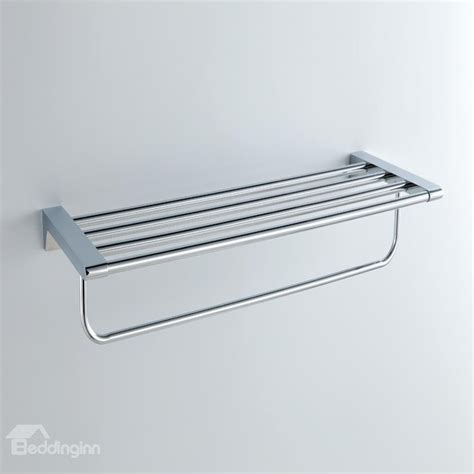 chrome finishd solid brass 24 inch bathroom shelf with