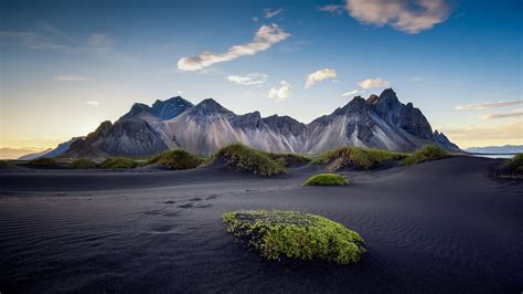 photo landscapes  iceland black sand beach rocky