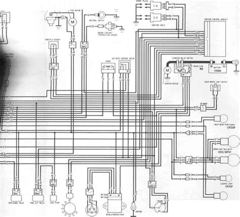 wiring diagrams honda cbr 600 1995 1996 kappa motorbikes