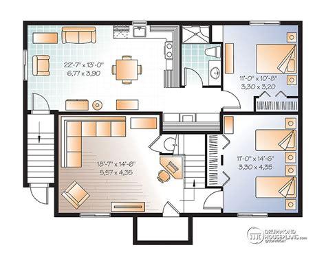 daylight basement plans house plans with basement apartment drummond plans