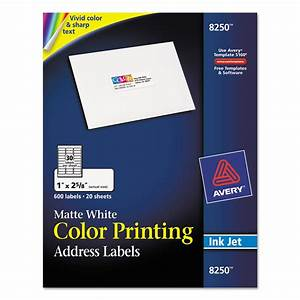avery ave8250 vibrant color printing address labels 1 x 2 With colored address labels