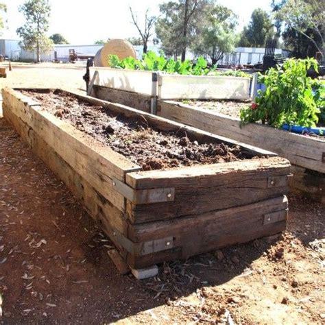 building raised garden beds  railroad ties raised