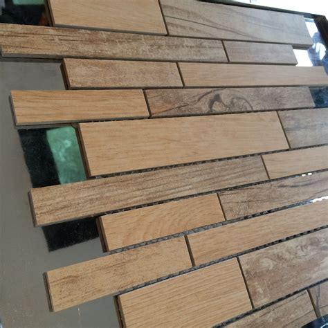 wood look ceramic mosaic tile 300x300 buy ceramic mosaic