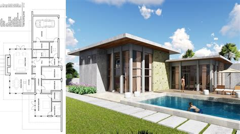 sketchup  story house bedroom exterior design