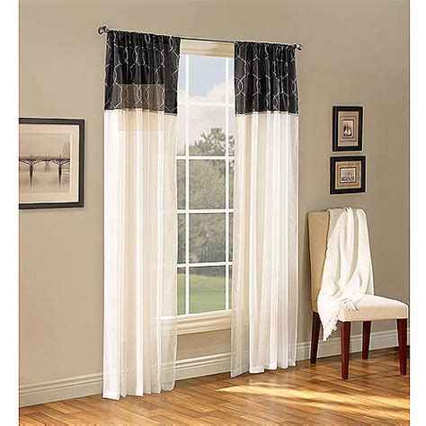 sheer curtain panels walmart maison reversible sheer curtain panel