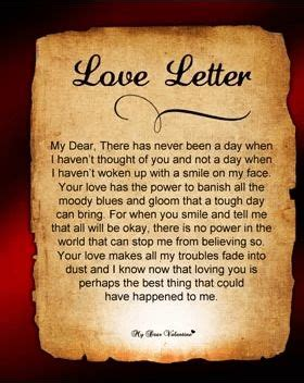 Valentine Love Letter to My Wife