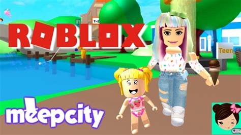 Juegos de roblox para niñas : Jugando con la Bebe en Meep City! Niñera en Roblox - Titi Juegos - YouTube