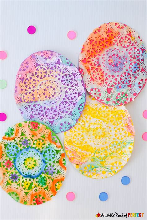 25 easter crafts for projects 218 | Easter Egg Doily Craft A Little Pinch of Perfect 8