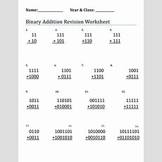 Binary Addition And Subtraction By Chrismooney1  Teaching Resources Tes