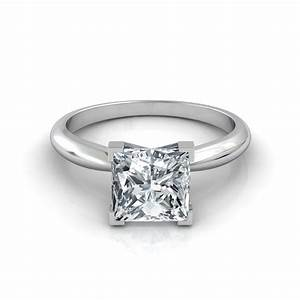 V-Prong Princess Cut Engagement Ring