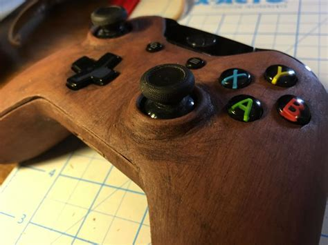 printed xbox  controller   wood
