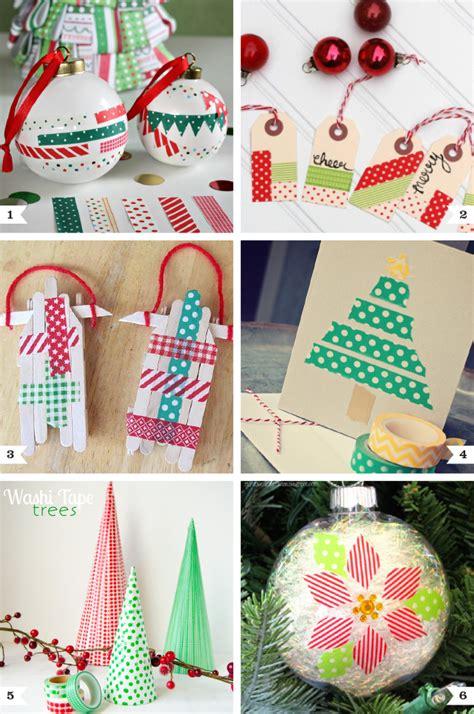 washi tape christmas crafts chickabug