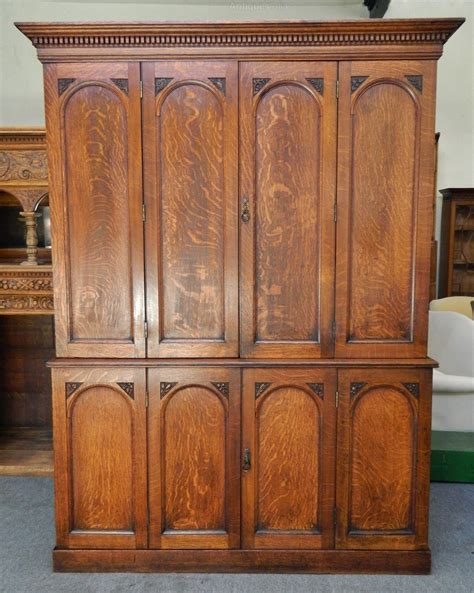 Antique Kitchen Cupboard by Large Oak Housekeepers Cupboard Kitchen