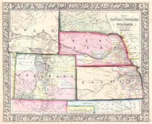 Colorado Kansas and Nebraska Map