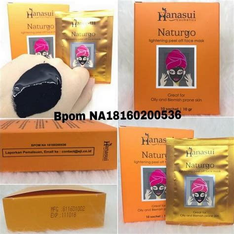 Naturgo Masker Lumpur Hanasui jual hanasui naturgo masker lumpur hitam original bpom