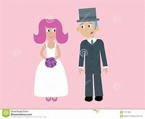 Cute Vector Bride & Groom Royalty Free Stock Photo - Image ...
