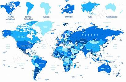 Map Countries Continents