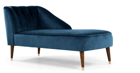 chaise b b confort margot right facing chaise midnight blue velvet