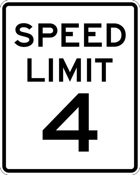 File:Speed Limit 4 sign.svg - Wikimedia Commons
