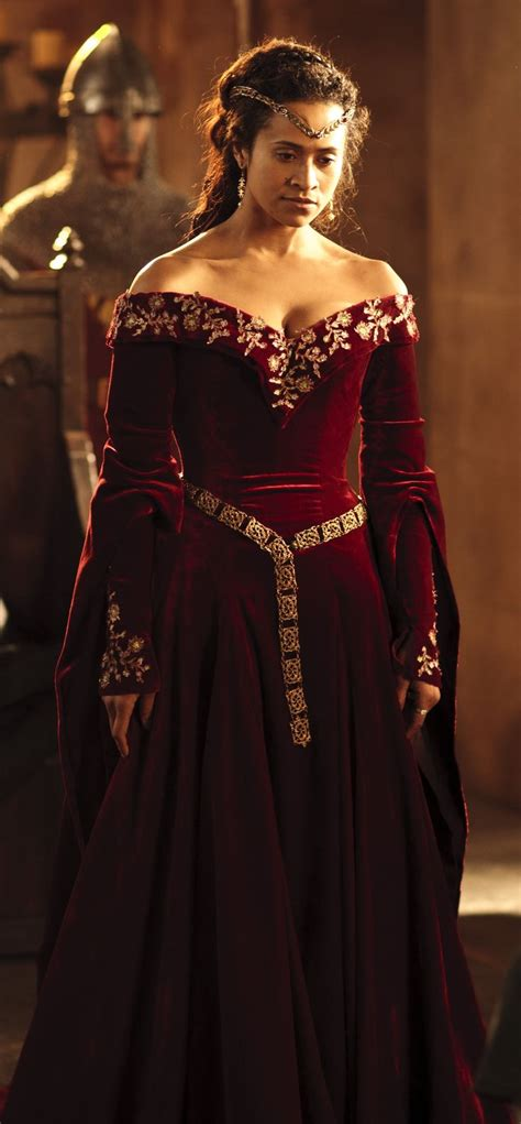 queen guineveres red formal dress merlin woven magic
