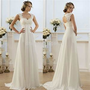 new arrival 2015 new fashionable elegant cap sleeve a line With long dresses for beach wedding