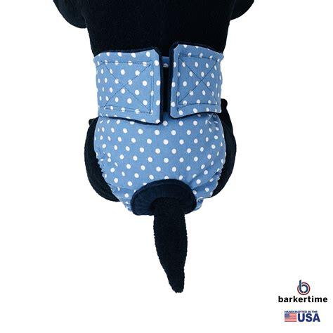 white polka dot  baby blue washable dog diaper barkertime