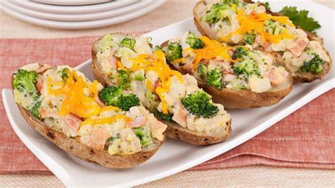 Cheesy Broccoli Baked Potatoes Canadian Living Recipes