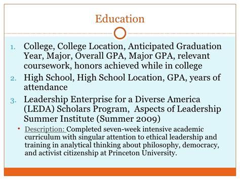 Include Gpa On Internship Resume by Resume Major Gpa