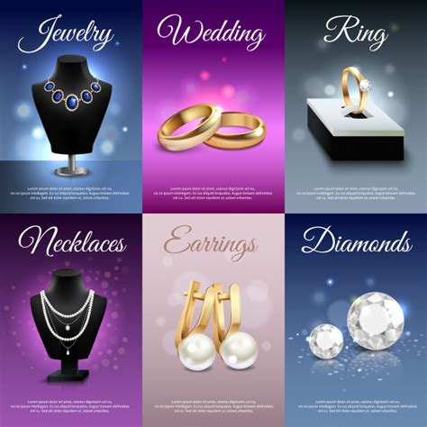 jewelry vectors   psd files