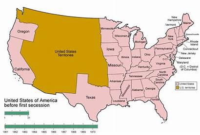 Secession Oregon Map Southern Civil War History