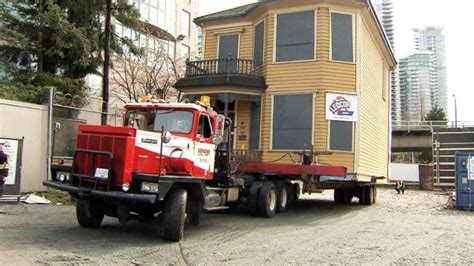 historic home moved temporarily to make room for