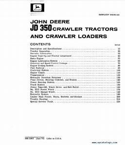 John Deere Jd350 Crawler Tractors  U0026 Loaders Service Manual